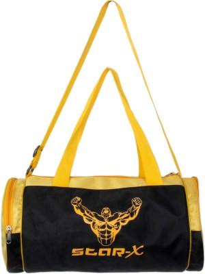 Star X Power Gym Bag(Black, Yellow, Kit Bag)