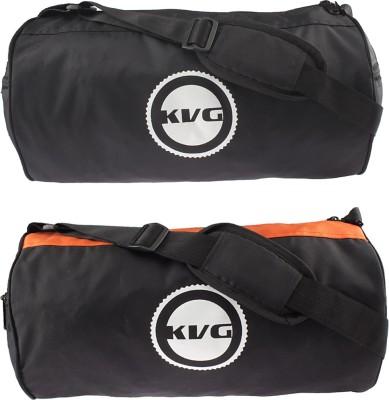 KVG Orange Color Gym Bag Stylish Gym Bag Combo