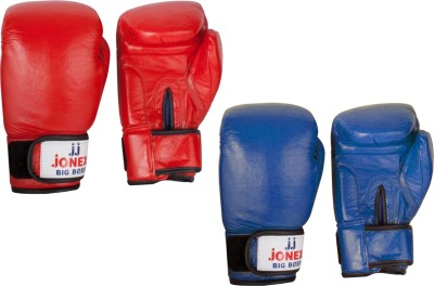 JJ JONEX VERY HIGH QUALITY Big Boss Boxing Gloves (L, Red, Blue)