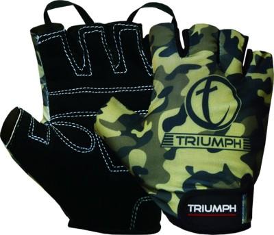 Triumph Cross Trainer Gym & Fitness Gloves (M, Green, Black)