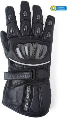 Royal Enfield GLS150007-Black Riding Gloves (XXL, Black)
