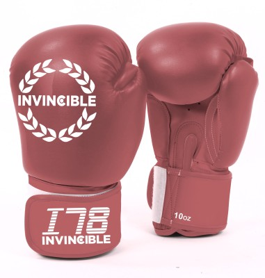 Invincible Training Boxing Gloves (Men, Red)