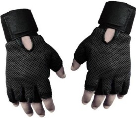 CP Bigbasket Netted Wrist Support Gym & Fitness Gloves (Free Size, Black)