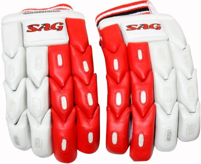 THREE WICKETS Titanium Batting Gloves (Men, Red)
