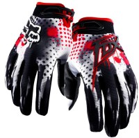 Fox 1 Pair of Hand Grip for Bike Motorcycle Scooter - (Black,Red and White Colour M) Riding Gloves (M, White, Black, Red) best price on Flipkart @ Rs. 1137
