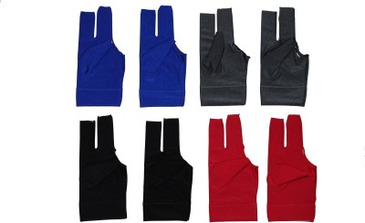 Billiedge Nail Cut Pack Of 8 Billiard Gloves (Free Size, Multicolor)