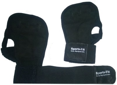 CP Bigbasket Sweat leather full Black Backless with wrist Gym & Fitness Gloves (Free Size, Black)