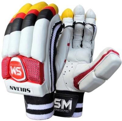 SM Sultan Batting Gloves (Men, Multicolor, White)