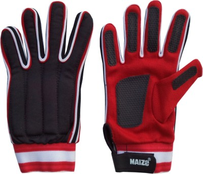 Maizo Max (Assorted) Football Gloves (M, Red, Black)