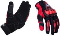 Vega Vega MCS-18 Red Gloves Riding Gloves (L, Red, Black)