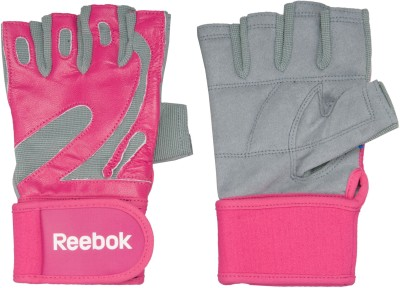 Reebok REO-40134PK Gym & Fitness Gloves (XL, Pink)
