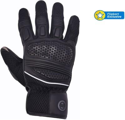 Royal Enfield GLS150006-Black Riding Gloves (L, Black)