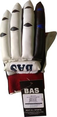 BAS Magnum Batting Gloves (Men, White, Maroon)