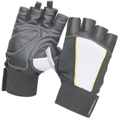 Nivia GG-704 Gym & Fitness Gloves (L, Grey, Black, Yellow)