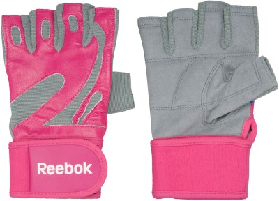 Reebok Fitness Gloves Gym & Fitness Gloves (L, Pink)