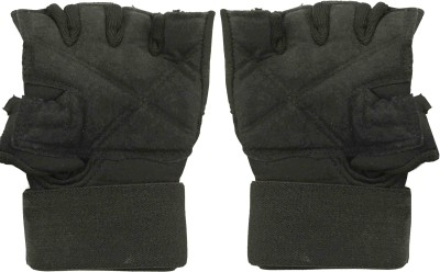 Protoner Super Cushion Gym & Fitness Gloves (Free Size, Black)