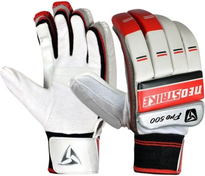 Neo Strike PRO500 Batting Gloves (Men, White, Red)
