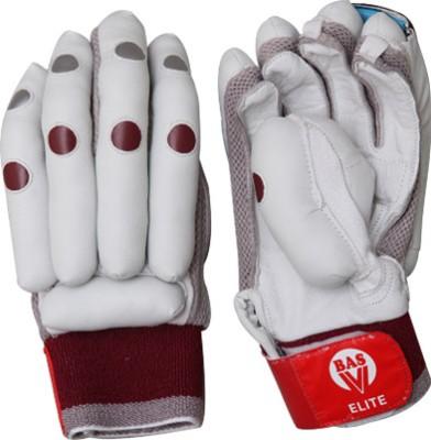 BAS Vampire Elite Batting Gloves (L, White, Brown)