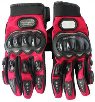 Pro Biker Biker Riding Gloves (XL, Black, Red)