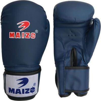 Maizo Synthetic Leather Training 10 Oz Boxing Gloves (M, Blue, Black)