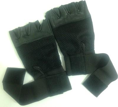 Vinto Superb Gym & Fitness Gloves (Free Size, Black)