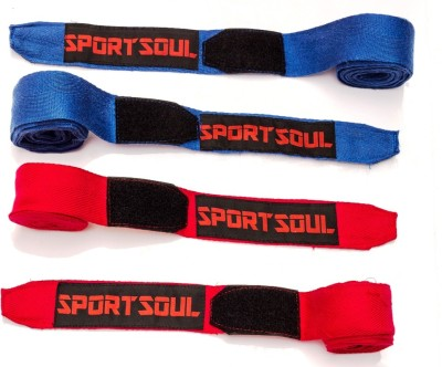 SportSoul Cotton Boxing Gloves (Men, Blue, Red)