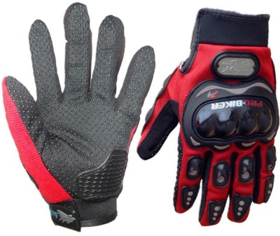 Pro Biker Bike Racing Motorcycle Riding Gloves Red Color Riding Gloves (XL, Red)