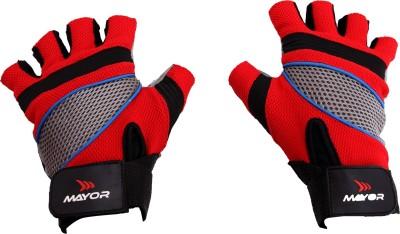 Mayor Granada Gym & Fitness Gloves (S, Red, Black)