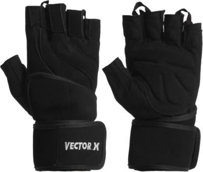 Vector X VX-2000 Gym & Fitness Gloves (XL, Black)