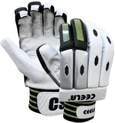 Ceela Test Batting Gloves (L, White, Black)