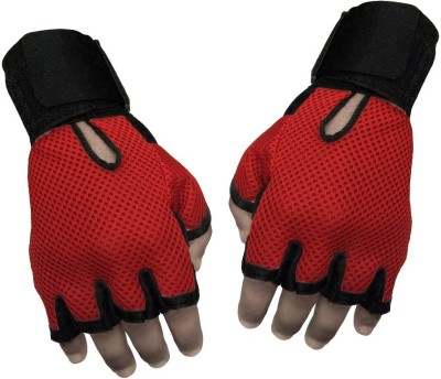 Jack & Ginni Gyming Gym & Fitness Gloves (Free Size, Red)