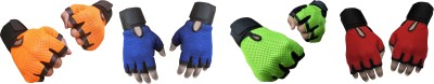Jack & Ginni Gyming Gym & Fitness Gloves (Free Size, Orange, Blue, Green, Red)