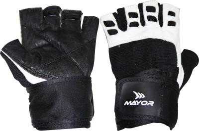 Mayor Congo Gym & Fitness Gloves (M, Black, White)