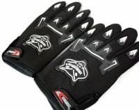 Knighthood Knight Hood Full Finger Riding Gloves (L, Black)