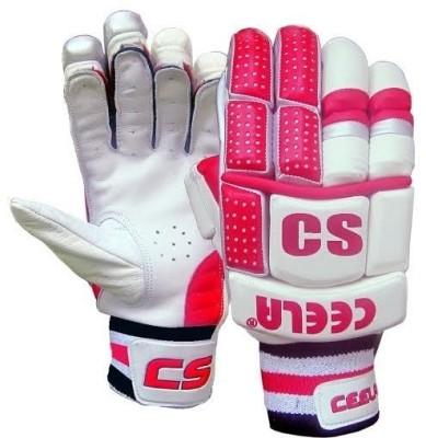 Ceela Spark Batting Gloves (M, White, Pink)