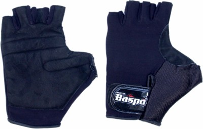 Baspo Lycra Cycling Gloves (Free Size, Black)
