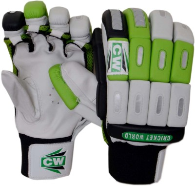CW Millennium Batting Gloves (Men, White, Green)