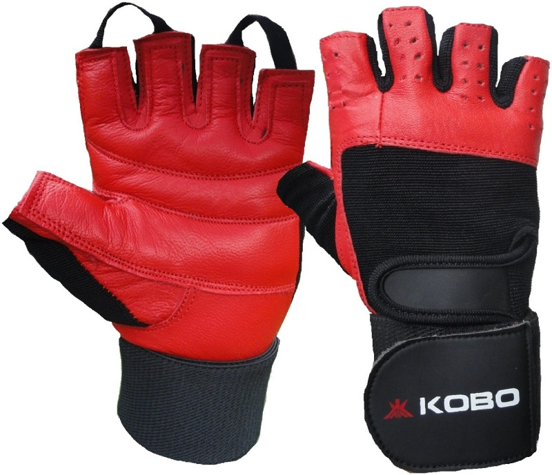 Kobo Weight Lifting (Imported) Gym & Fitness Gloves (M, Red)