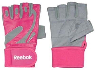 Reebok GLOVES Gym & Fitness Gloves (L, Pink)