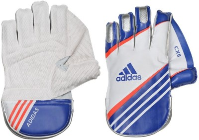 Adidas WKG CX11 16 Wicket Keeping Gloves (M, White, Blue, Red)