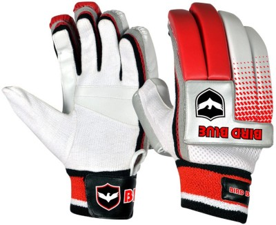 Birdblue Club Power Batting Gloves (Men, White, Red)