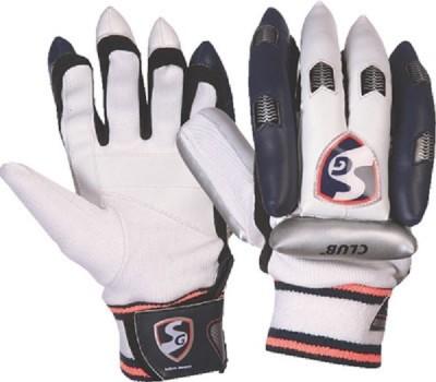 SG Club Batting Gloves (M, White, Black)