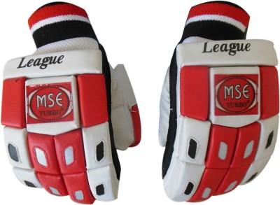Turbo LEAGUE Batting Gloves (Men, White, Red)