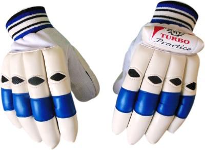Turbo PRACTICE Batting Gloves (Men, White, Blue)