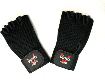 Vinto Blackhawk Hell Storm Gym & Fitness Gloves (Free Size, Black)