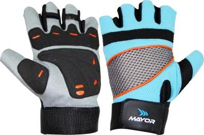 Mayor Granada Gym & Fitness Gloves (L, Blue, Black)