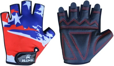 Hawk XT310 Gym & Fitness Gloves (S, Red, Blue)