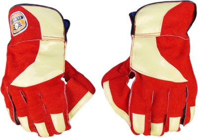TURBO CLUB Wicket Keeping Gloves (Men, Red, Yellow)
