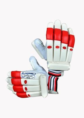 Turbo CENTURY Batting Gloves (Men, White, Red)