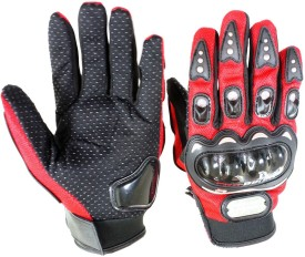 P A PROBIKERZ(FULL)-L-RED-041 Cycling Gloves (L, Red)